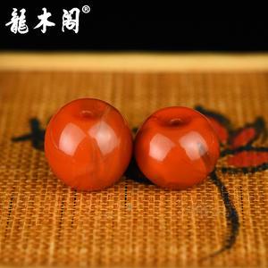 九口南红  苹果珠对珠 配饰珠 sbj-4939-10