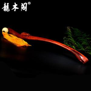 印度小叶紫檀老料 蝉 一鸣惊人 痒痒挠不求人 木雕工艺品摆件 mbj-3657