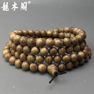 天然无优化沉香 8.5mm108颗柬埔寨菩萨沉沉香念珠 佛珠手串 chx-134