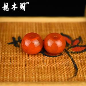 九口南红  苹果珠对珠 配饰珠 sbj-4939-8