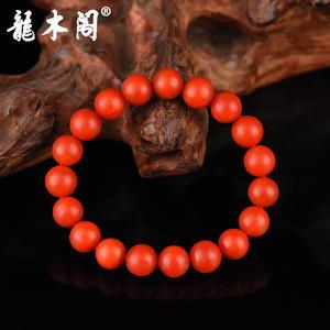 云南保山南红 10.3mm满色柿子红 佛珠手串 stsl-006-1