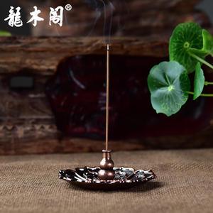 龙木阁 金属 福禄莲花 香插香座 香道用品 香具 chx-156