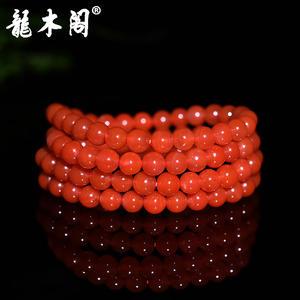 凉山联合料 6.4mm南红玛瑙 满色水润樱桃红 佛珠手串手链 sl-7155-4