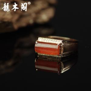 天然A货翡翠 糯冰种红翡翠 18k金镶真钻戒指 奢侈珠宝首饰 fcs-076