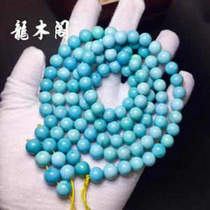 瓷釉级湖北溢水天空蓝绿松石大规格念珠手链sl-8022-5