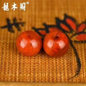 九口南红  苹果珠对珠 配饰珠 sbj-4939-5