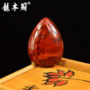 凉山九口南红 深色玫瑰柿子红 水滴素面吊坠挂件 sbj-4251-5