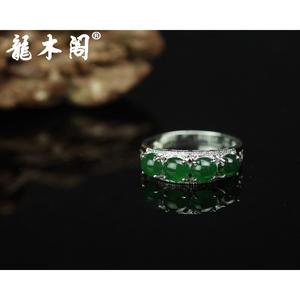 天然A货翡翠 糯冰种满绿 18k金镶钻戒指 奢侈珠宝首饰 fcs-066