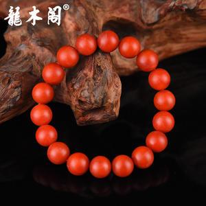 云南保山南红 11mm满色柿子红 佛珠手串 stsl-006-3