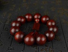 小叶紫檀顶级老料 21mm鱼鳞纹 颗颗金星佛珠手串手链 sl-6232
