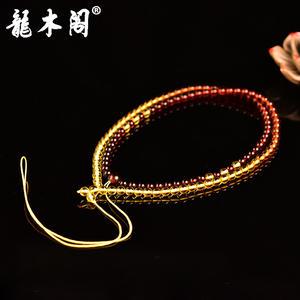 波罗的海天然琥珀金珀棕红珀血珀彩虹渐变珠项链高档吊坠绳挂绳sl-7693