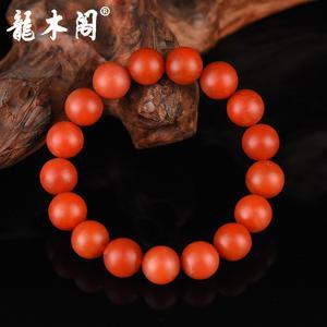 云南保山南红 12.5mm满色柿子红 佛珠手串 stsl-005-2