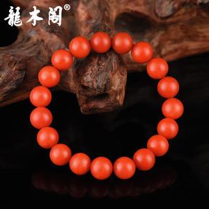 云南保山南红 10.5mm满色柿子红 佛珠手串 stsl-006-2