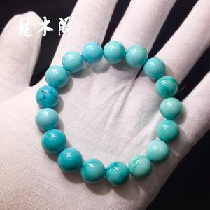 瓷釉级湖北溢水天空蓝绿松石大规格手串sl-8022-6