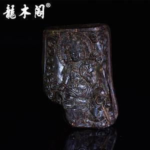 文莱正产区沉香 精雕观音平安牌超重沉水 雕件 chx-164
