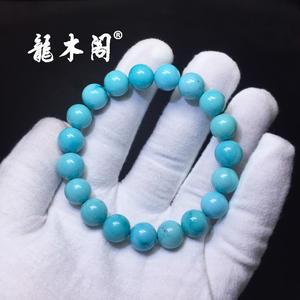 瓷釉级湖北溢水天空蓝绿松石大规格手串sl-8022-3