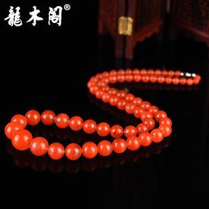凉山南红玛瑙联合料 满色水润樱桃红 渐变塔链 项链珠宝首饰 stsl-062-2