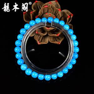 金龙山原矿绿松石 全玉化瓷釉级高蓝 6mm佛珠手串  sl-7903-1
